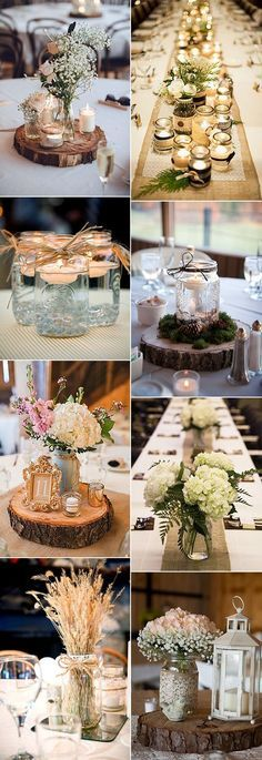gorgeous mason jars wedding centerpiece ideas #weddingideas #wedding #weddingcenterpieces #weddingdecorations