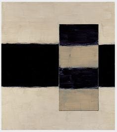 """Sean Scully """"Passenger North"""" 1998 Oil on linen 54.5 x 48 in (138.4 x 121.9 cm)"""