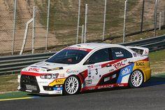 Dani Solá hizo debutar en el rallye Shalymar 2008 el nuevo Mitsubishi EVO X