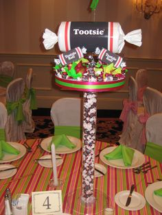 NJ Party Decorations - Event Centerpieces for Weddings & Bar/Bat Mitzvahs Candy Theme Birthday Party, Candy Land Theme, Birthday Fun, Party Themes, Party Ideas, Theme Ideas, Sweet 16 Centerpieces, Balloon Centerpieces, Centerpiece Ideas