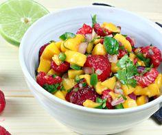 Raspberry Mango Salsa - Vegan