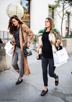We are ready to move on from adored multicolored fur jackets to more spring/summer styles and a good-looking kimono tops the list! Gucci loafers