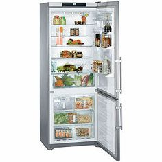 "CS1640 Liebherr 30"" Freestanding Cabinet-Depth Refrigerator Freezer with Icemaker - Right Hinge - Stainless Steel"