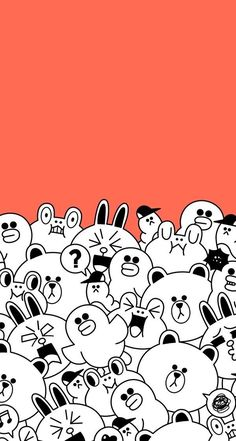 • Line Friends 배경화면 모음! : 네이버 블로그 Teen Wallpaper, Lines Wallpaper, Images Wallpaper, Kawaii Wallpaper, Cute Wallpaper Backgrounds, Wallpaper Iphone Cute, Cool Wallpaper, Cute Wallpapers, Chevron Wallpaper