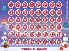 Factor Game - This Math factor game is known by different names - 'Capture the Factor' - 'Taxman' or 'Think and Cover'. Personally like like 'Think and Cover' as it describes the necessary skill needed to do well :-)Essence of the Game:Think and Cover is an classic strategy game ideal for exploring factors, Addition, Multiplication and Division. Multiplication Games, Multiplication And Division, Math Games, Rainbow Facts, Division Games, 3rd Grade Math, Grade 3, Addition Games, Reading Games