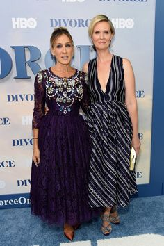 """Sarah Jessica Parker Photos Photos - Sarah Jessica Parker and Cynthia Nixon attend the """"Divorce"""" New York Premiere at SVA Theater on October 4, 2016 in New York City. - """"Divorce"""" New York Premiere"""