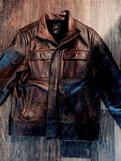 Gap Distress Leather Jacket Vintage Motorcycle | eBay
