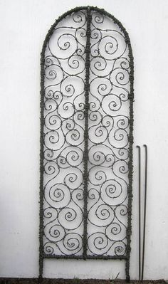 There Be Spirals Galore 60 inch Barbed Wire Spirilian Trellis Made to Order