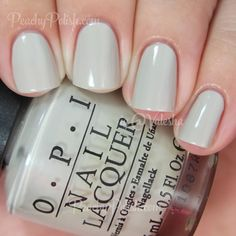 "OPI ""Skull & Glossbones"" is a pale gray creme."