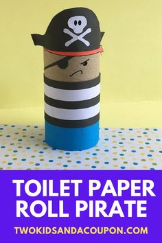 Gather your little mateys for a high seas craft project with this fun toilet paper roll pirate craft for kids. Here's how to make it! Toilet Paper Roll Crafts, Paper Crafts, Yarn Crafts, Cute Kids Crafts, Simple Crafts, Indoor Activities For Kids, Kid Activities, Pirate Crafts, Sea Crafts