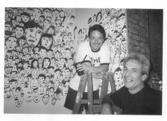 """Photo with Paul Weiner at the """"Wall of  Faces"""" Mural Fairway Broadway & 75th Street NYC 2nd Floor"""