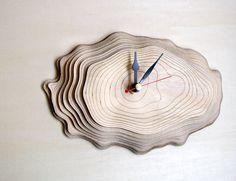 Petite écorce horloge  horloge murale unique par AsymmetreeDesign, €69.00
