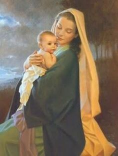 Dec 2016 - 'The Heart of Christmastide' - Madonna and Child with Christmas Tree and Holly Spray. The virgin Mary and the baby Jesus under a Christmas tree. Blessed Mother Mary, Blessed Virgin Mary, Divine Mother, Lds Art, Mama Mary, Queen Of Heaven, Religious Paintings, Religious Art, Religious Pictures