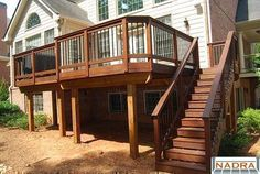 second story deck - liking the corners and two sized areas