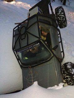 Toyota crawler in the snow