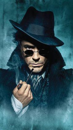 Robert Downey Jr as Sherlock Holmes Sherlock Fandom, Sherlock Bbc Funny, Sherlock Holmes Quotes, Sherlock Moriarty, Sherlock Holmes Bbc, Watson Sherlock, Sherlock John, Sherlock Poster, Sherlock Season