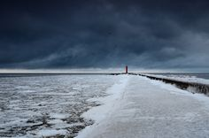 Red lighthouse in a stormy weather by Aleksey Stemmer on 500px