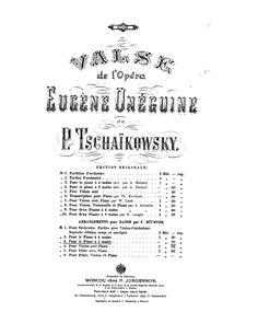partition onegin   Ferdinand Büchner (1825-1912)  Publisher Info.:   Moscow: P. Jurgenson, n.d.(1881). Plate 4408