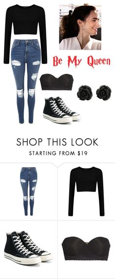 """Scarlet Audrey Phoenix"" by alyssa-nicholls ❤ liked on Polyvore featuring Topshop, Converse and Natori"