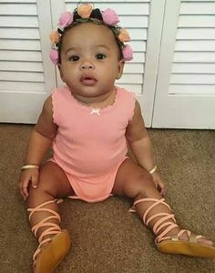 Flower bomb baby girl is so pretty in pink and flowers