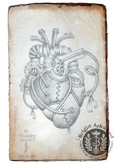 Steampunk heart This tattoo is waiting for me one year more.and is be dedicated for my favorite medical for my new angel in the sky I know with his help I become a great doctor. Love you soo much Mago Tattoo, Silverpoint, Steampunk Heart, Geniale Tattoos, Steampunk Cosplay, Anatomical Heart, Anatomy Art, Sketch Inspiration, Heart Art