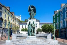 Cobh Town - 'The Lusitania Monument' by sculptor Jerome Connor in memory of those lost when the Cunard liner was sunk by U-20 on 7th May, 1915, off the Old Head of Kinsale. [STREETS OF IRELAND PROJECT]