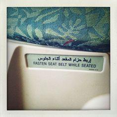 Fasten seat belt... taking off
