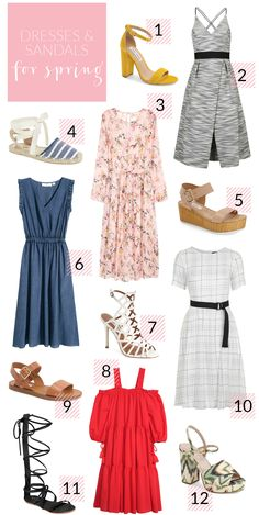Dresses and Sandals for Spring - Poor Little It Girl