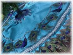50 DEPOSIT   Multi Use Peacock 36  Tablecover by Ivyndell on Etsy, $149.00