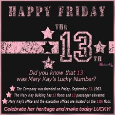 Check out my FB page tomorrow for all the great Friday the 13th deals!