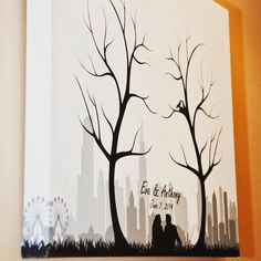 I don't know about you but I absolutely love this guest book canvas! Great idea