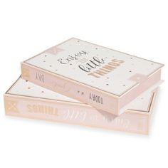 [J'ai ♥] 2 boîtes livres en carton L16 et L19 cm LITTLE DAY