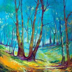 """TODAY ~ JAN 24, 2016. I have been thinking of our LIFE'S JOURNEY. This original oil painting of a Landscape of Trees and a gentle path through the """"Mystic"""" is offered to you here.  http://www.ebay.com/itm/-/151961300940?"""