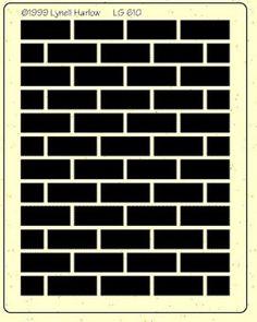 stencil brick wall background