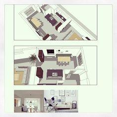 verbinding - een lange kastenwand van keuken naar woonkamer, Deco ideeën