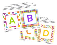 Printable ABC Banner (I'm sure there are other cute ideas to use these) $0