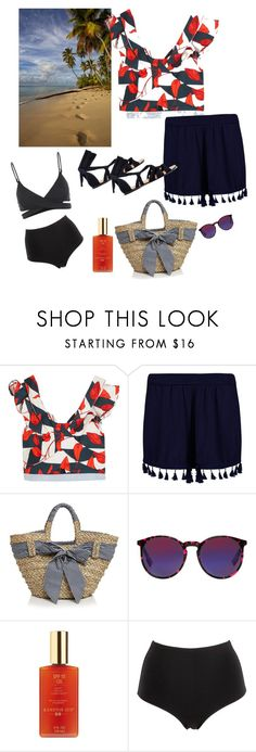 """Beach Get-Away🏝🏖"" by parnett ❤ liked on Polyvore featuring Johanna Ortiz, Boohoo, Filippo Catarzi, McQ by Alexander McQueen, Hampton Sun, La Perla and L*Space"