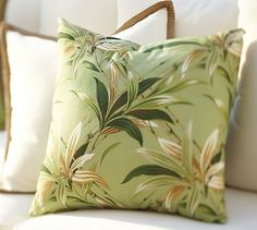 Bamboo Leaf Outdoor Pillow #potterybarn