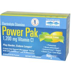 Trace Minerals Research, Electrolyte Stamina, Power Pak, Lemon Lime, 32 Packets, 0.23 oz (6.4 g) Each - iHerb.com