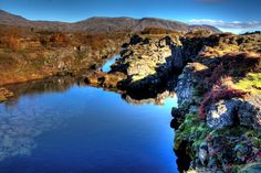 The colors of Fall - at National Park, Thingvellir, Iceland.