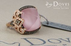 #prettyinpink: a gorgeous ring from the #BellaRosa collection. Only from Doves by Doron Paloma.