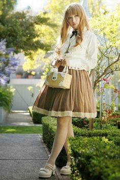HMHM Shirred Sash Chocolate Lolita Skirts - 3 Colors.  $52.99.  Originally half price?