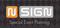N-Sign Special Event Planning te Hilversum. Ontwerp logo door Reclamebureau Holland. Jochem Albrecht. Reclamebureaus en ontwerpbureaus