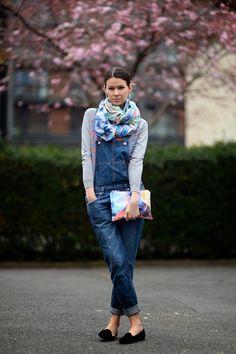 Julia Lundin Overalls street style