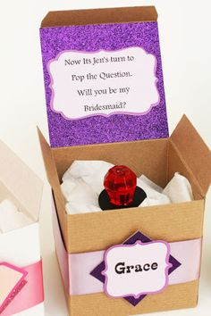 10 Pretty Perfect Will You Be My Bridesmaid Ideas - Aisle Perfect