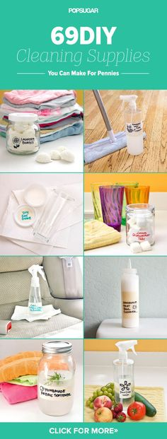 Make These 69 DIY Cleaning Products For Pennies http://www.popsugar.com/smart-living/DIY-Cleaning-Products-28901279#photo-35404284