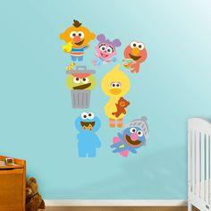 Sesame Street Baby Collection | REAL.BIG. Fathead – Peel & Stick Wall Graphic | Kids Bedroom Decor
