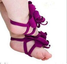 Tessuto sandali a piedi nudi per il bambino di Mypinktutushop