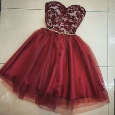 Burgundy Lace Homecoming Dress,Sexy Party Dress,Charming Homecoming Dress,Cheap…