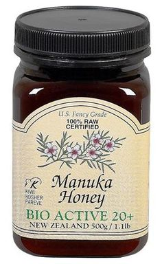 New Zealand Manuka Honey 20 + - ***Manuka honey has been proven to kill H. Pylori bacteria (which is responsible for 90% of all peptic, gastric and duodenal ulcers).  It's also effective in killing staph and strep infections.  At minimum, the Manuka you purchase should be Bio Active 10+, but 20+ is preferable.
